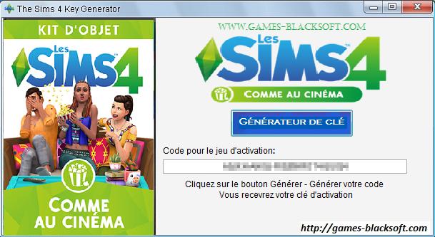 Les-Sims-4-Comme-au-cinéma-générateur-de-clé