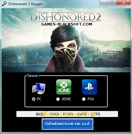 Dishonored-2-keygen-PC-crack