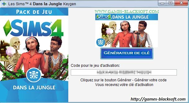 Les-Sims-4 Dans-la-Jungle-cle-d-activation
