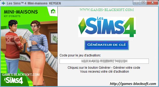 Les-Sims-4 Mini-maisons-kit-d-objets-Keygen-les-cles-d-activation