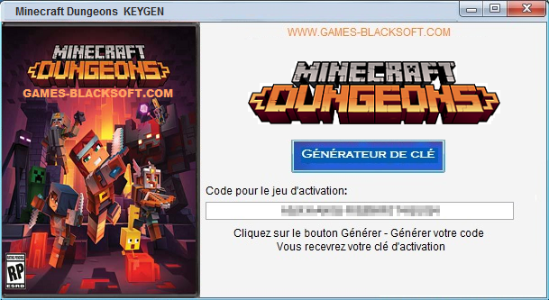 Minecraft-Dungeons-gratuit-cle-d-activation