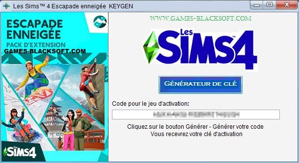 Les-Sims-4-Escapade-enneigee-Keygen-les-cles-d-activation